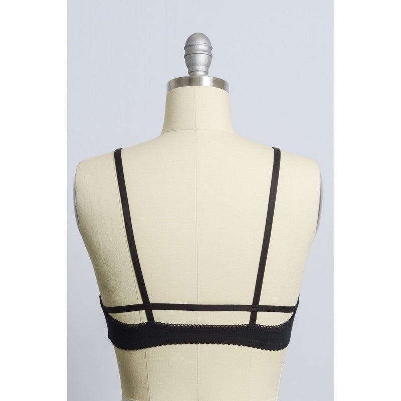Scallop Trim Cross Front Bra