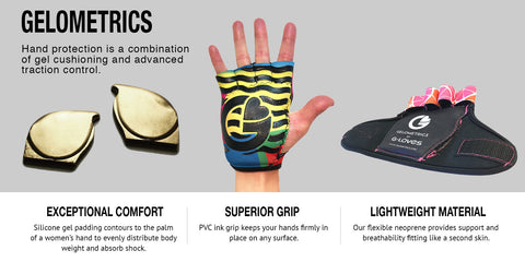 GELOMETRICS - GEL CUSHIONED STUDIO GLOVES