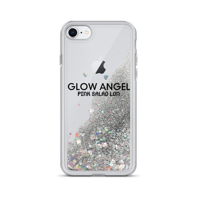 Black Glow Angel Glitter Liquid Phone Case