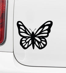 "CAR - Butterfly - Design 1 - Car Vinyl Decal © YYDC (4.5""w x 3.5""h) (Color Choices)"