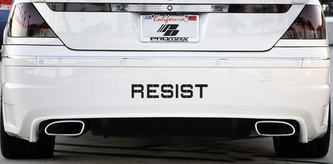 "CAR:LG - RESIST - Vinyl Car Decal Sticker - © YYDC (LARGE 12""w x 2""h)(COLOR CHOICES)"