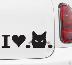 "CAR - I Heart Soon Cat - Vinyl Car Decal Sticker -  ©YYDC (9.75""w x 3.25""h) (Color Choices)"