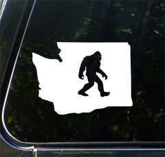 "CAR - Sasquatch - Bigfoot in Washington - WA - Vinyl Car Decal - (5.5""w x 4""h) (Color Choices)"