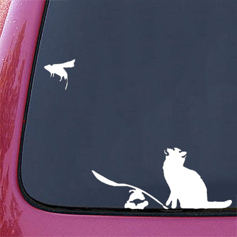"CAR - The Ratapult - Car Vinyl Decal (10.5""w x 6.5""h) (WHITE)"