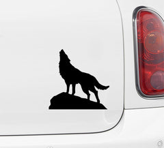 "CAR - Wolf Howling - Car | Truck | Motorcycle | Outdoor Use - Vinyl Decal Copyright © Yadda-Yadda Design Co. (5""w x 5""h) (VARIATIONS AVAILABLE)"
