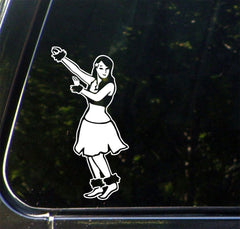 "CAR - Hawaiian Hula Girl - D1- Vinyl Car Decal - © YYDC (3""w x 6""h) (Color Choice)"