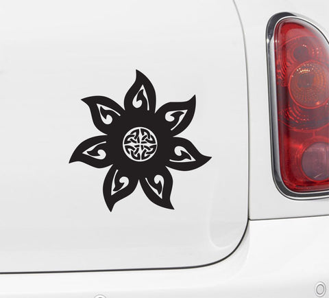 "CAR - Mandala - Celtic Knot - Car Vinyl Decal Sticker - ©YYDC (5""w x 5""h) (Color Variations)"