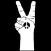 "CAR - Peace Hand with Peace Sign - Car Vinyl Decal (3.5""w x 8.5""h) (WHITE)"