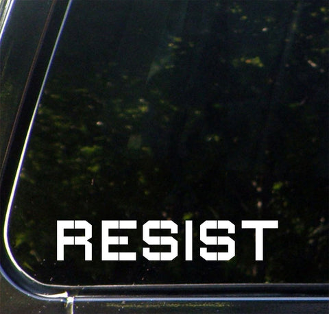 CAR - RESIST - Vinyl Car Decal Sticker - © YYDC (SIZE and COLOR CHOICES)