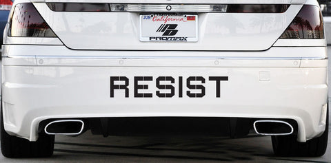 "CAR:XL - RESIST - Vinyl Car Decal Sticker - © YYDC (X-LARGE 22""w x 4""h)(COLOR CHOICES)"