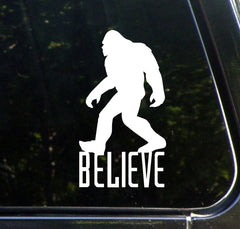 "CAR - Sasquatch - Bigfoot - BELIEVE - D1 - Vinyl Car Decal (2.75""""w x 5""h) (Color Choices Available)"