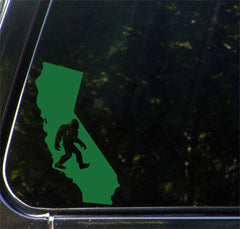 "CAR - Sasquatch in California - Bigfoot - Vinyl Car Decal (MD 5""w x 8.75""h)(COLOR CHOICES)"