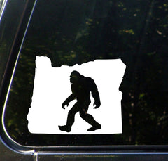 "CAR - Sasquatch - Bigfoot - Oregon - Car Vinyl Decal - (5""w x 4""h) (Color Choices)"
