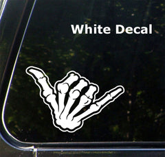 "CAR - Skeleton Hand SHAKA - Vinyl Car Decal Sticker (5.5""w x 3.5""h) © YYDC (Color Choices)"