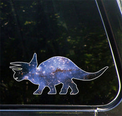 "CLR:CAR - Cosmic Triceratops - Galaxy Dinosaur Decal for Cars and Trucks ©YYDC (5.5""w x 2.25""h)"