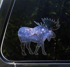 "CLR:CAR - Cosmic Moose - Vinyl Decal for Car | Truck | Outdoor - Copyright © YYDC (4.5""w x 4""h)"