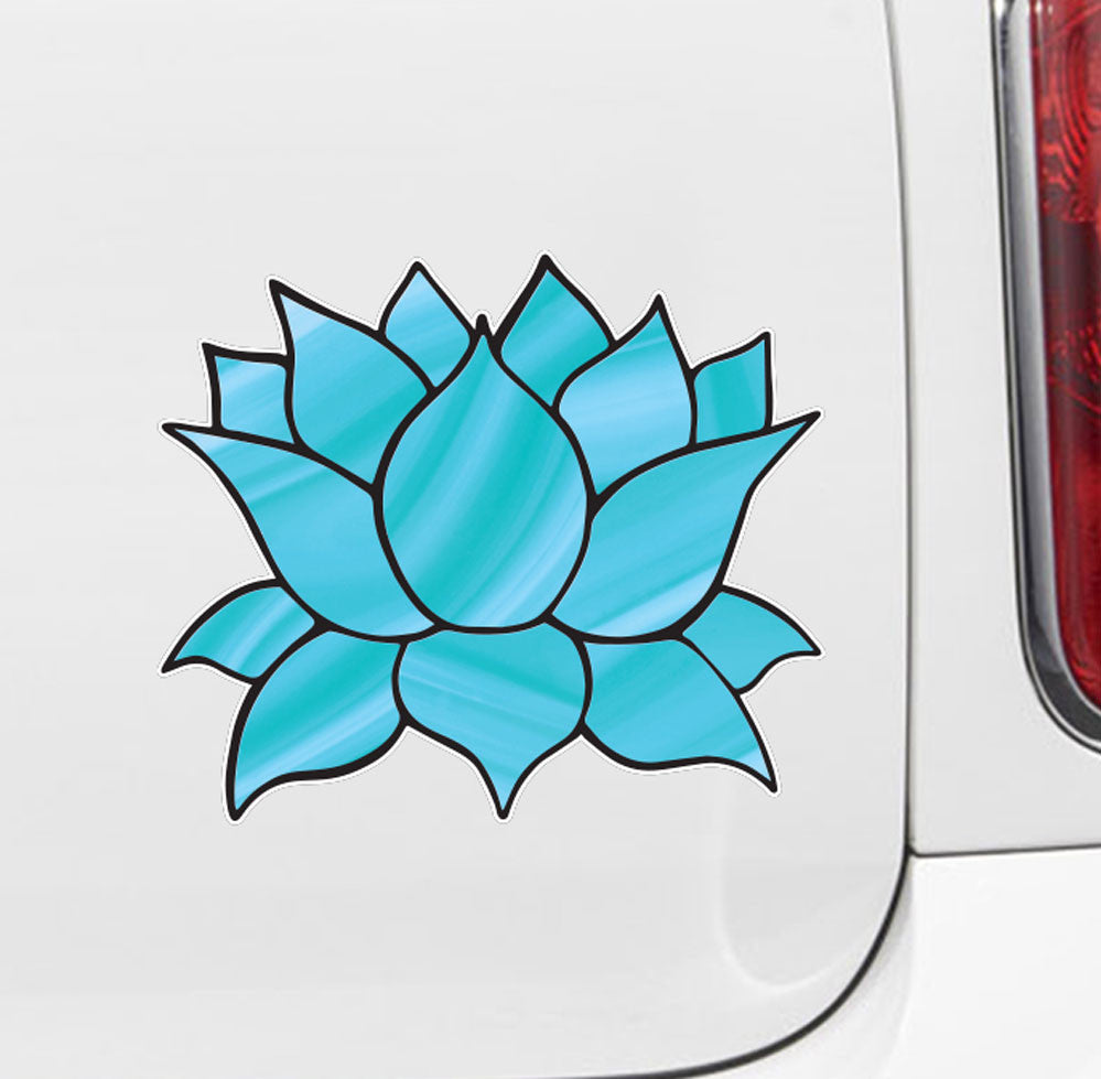 The decal store by yadda yadda design co clrcar stained clrcar stained glass style lotus flower design 4 vinyl decal for izmirmasajfo
