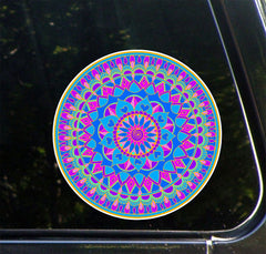 CLR:CAR - Mandala Heart - Hearts -  Vinyl Car Decal - Copyright © 2015 YYDC (MED 5 inch dia.)