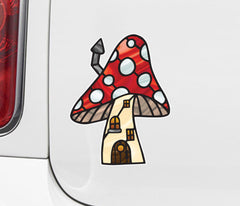 CLR:CAR - Mushroom Village - Fairy - Gnome - Fantasy - Stained Glass Style Vinyl Car Decals - Copyright 2017 Yadda-Yadda Design Co. (VARIATIONS AVAILABLE)