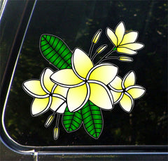 CLR:CAR - Tropical Plumeria Flower Cluster - Vinyl Decal for Cars | Trucks - © 2016 YYDCo. (VARIATIONS AVAILABLE)