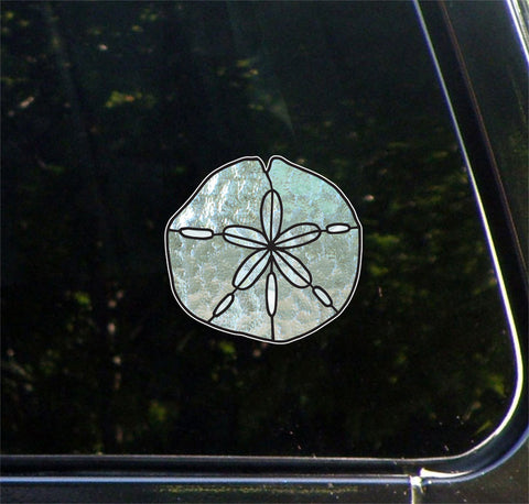 CLR:CAR - Sand Dollar - Stained Glass Style - Vinyl Decal for Vehicles - ©2016 YYDC