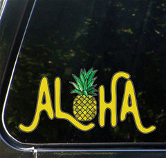 "CLR:CAR - Aloha Pineapple - Car | Truck | Outdoor Vinyl Decal - © 2015 YYDC (8""w x 4"")"