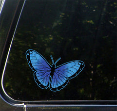 "CLR:CAR - Color Butterfly - Car Vinyl Decal Sticker - © YYDC (6.5""w x 4""h) (Color Choices)"