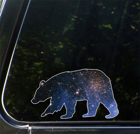 "CLR:CAR - Cosmic Bear - Design 1 - Vinyl Decal for Car | Truck | Outdoor - Copyright © YYDC (6""w x 3.5""h)"