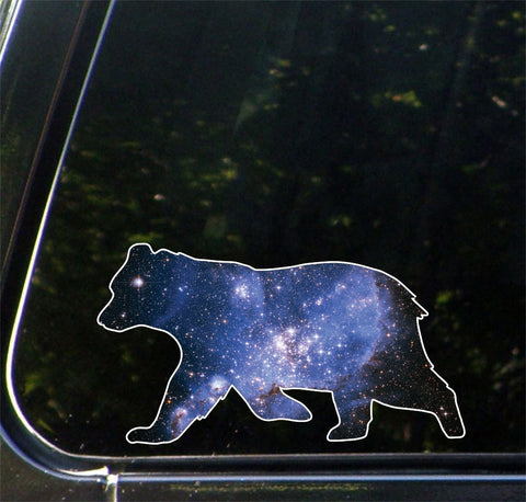 "CLR:CAR - Cosmic Bear - Design 2 - Vinyl Decal for Car | Truck | Outdoor - Copyright © YYDC (6""w x 3.5""h)"