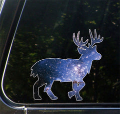 "CLR:CAR - Cosmic Deer - Vinyl Decal for Car | Truck | Outdoor - Copyright © YYDC (6""w x 6""h)"