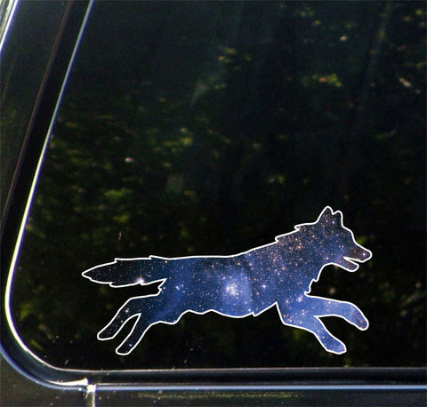 "CLR:CAR - Cosmic Dog - Vinyl Decal for Car | Truck | Outdoor - Copyright © YYDC (6""w x 3""h)"