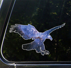 "CLR:CAR - Cosmic Eagle - Vinyl Decal for Car | Truck | Outdoor - Copyright © YYDC (7""w x 4""h)"