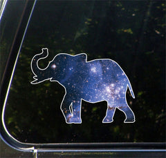 "CLR:CAR - Cosmic Elephant - Galaxy Guide Spirit Animal - Vinyl Car Decal - Copyright © YYDC (5.75""w x 4.25""h)"