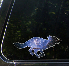 "CLR:CAR - Cosmic Fox - Vinyl Decal for Car | Truck | Outdoor - Copyright © YYDC (6""w x 2.75""h)"