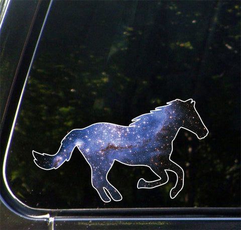 "CLR:CAR - Cosmic Horse - Vinyl Decal for Car | Truck | Outdoor - Copyright © YYDC (6""w x 3.5""h)"