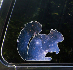 "CLR:CAR - Cosmic Squirrel - Vinyl Decal for Car | Truck | Outdoor - Copyright © YYDC (5""w x 4""h)"