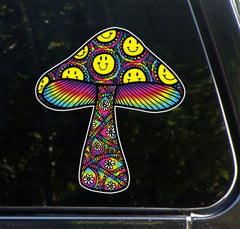 CLR:CAR - Patterned Mushrooms - Vinyl Car Decal - © 2018 YYDC (Variations Available)