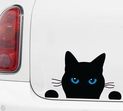 CLR:CAR - Soon Cat Black w Color Eyes - Vinyl Car Decal - ©2015 Yadda-Yadda Design Co.