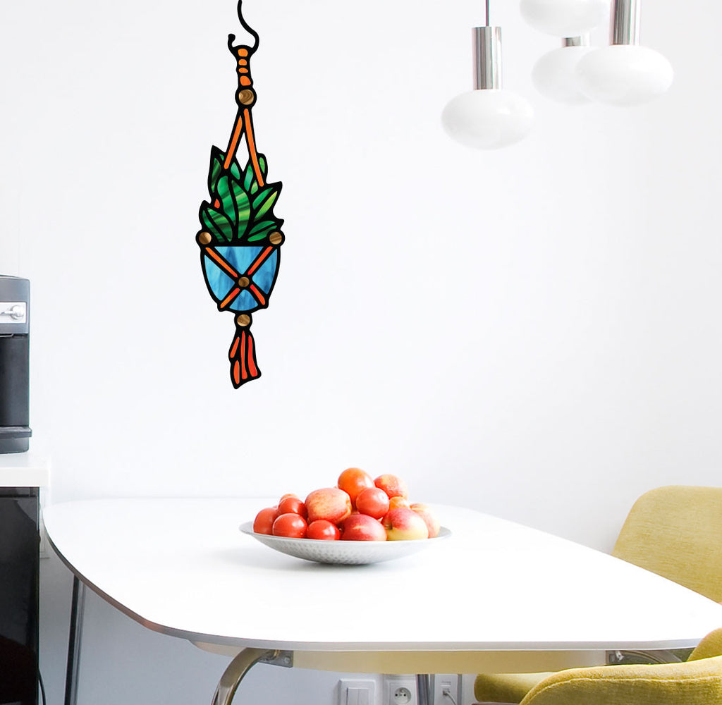 CLRWALL - Hanging Succulent Plant - D1 - Stained Glass Style - Vinyl Wall  sc 1 st  by Yadda-Yadda Design Co. & The Decal Store.com - by Yadda-Yadda Design Co. - CLR:WALL - Hanging ...