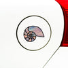 CLR:CAR - Shell - Nautilus Seashell - Stained Glass Style Vinyl Car Decal ©2016 YYDC (Size and Color Choices)