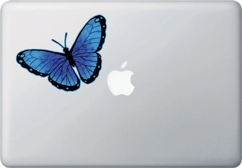 "CLR:MB - Color Butterfly - Vinyl Macbook Laptop Decal (5.25""w x 3.75""h)(COLOR CHOICES)"