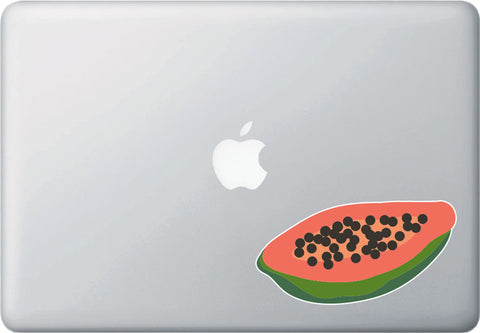CLR:MB - Papaya - Tropical Fruit - Vinyl Macbook Laptop Decal - © 2015 YYDC (Variations Available)