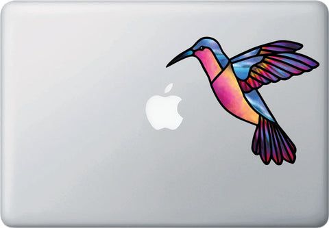 CLR:MB - Hummingbird Stained Glass Style Vinyl laptop Decal (Opaque)© 2016 YYDC (Size and Color Choices Available)
