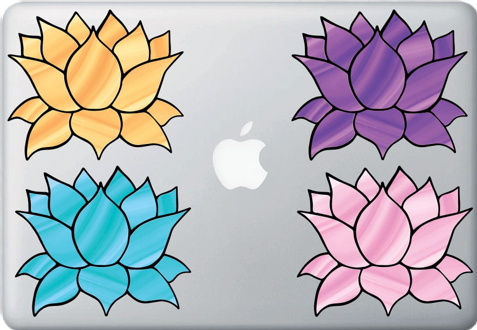 The decal store by yadda yadda design co clrmb stained clrmb stained glass style lotus flower design 4 vinyl decal for mightylinksfo