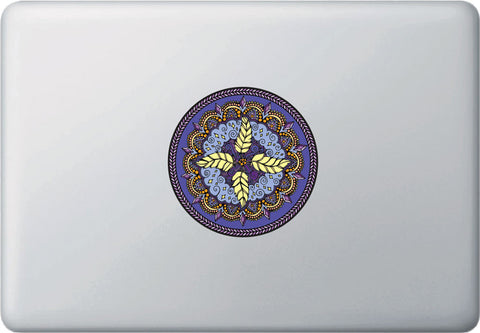 "CLR:MB - AIR Element Mandala Decal -  Laptop | Macbook Vinyl Decal - © 2015 YYDC (4""dia.)(Variations Available)"