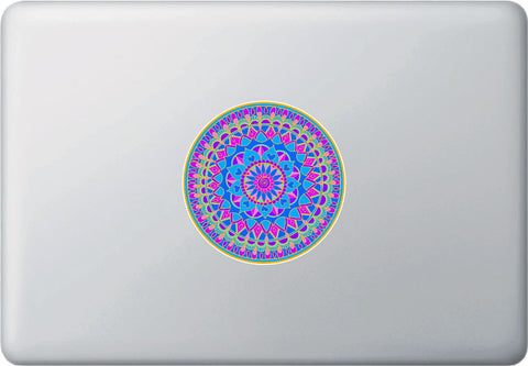 CLR:MB - Mandala - Heart Mandala -  Vinyl Laptop Macbook Decal - © 2015 YYDC (4 inch dia.)