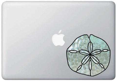 CLR:MB - Sand Dollar - Stained Glass Style Vinyl Decal for Laptops ©2016 YYDC (Size Variations Available)