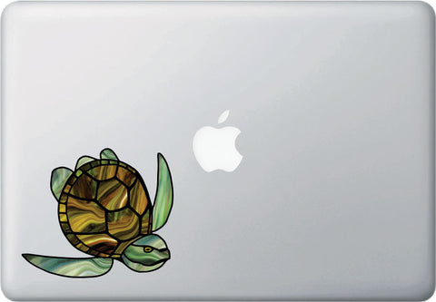 CLR:MB - Honu Sea Turtle - Stained Glass Style Vinyl Decal for Macbook | Laptop | Trackpad - ©YYDC (VARIATIONS AVAILABLE)