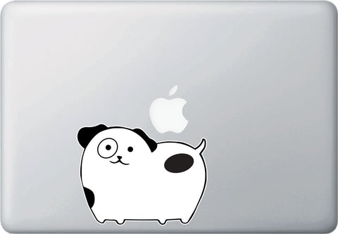 CLR:MB - Dog - Chubby Spotted Dog - Vinyl Macbook Laptop Trackpad Decal - Copyright © YYDCo. (SIZE CHOICES)