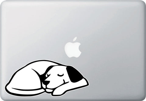 CLR:MB - Dog Dreaming - Sleeping Smiling Dog - Vinyl Macbook Laptop Trackpad Tablet Decal - Copyright © YYDCo. (SIZE CHOICES)